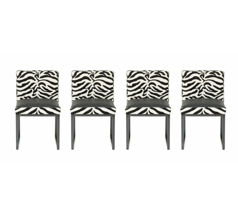 FRG Objects amp Design Art Zebra Desiron Dining Chairs