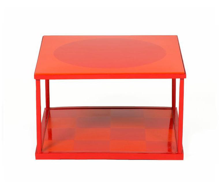 Frg Objects Design Art Red Orange Steel Coffee Table